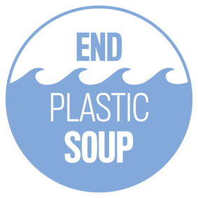 End Plastic Soup logo: waves in washing machine